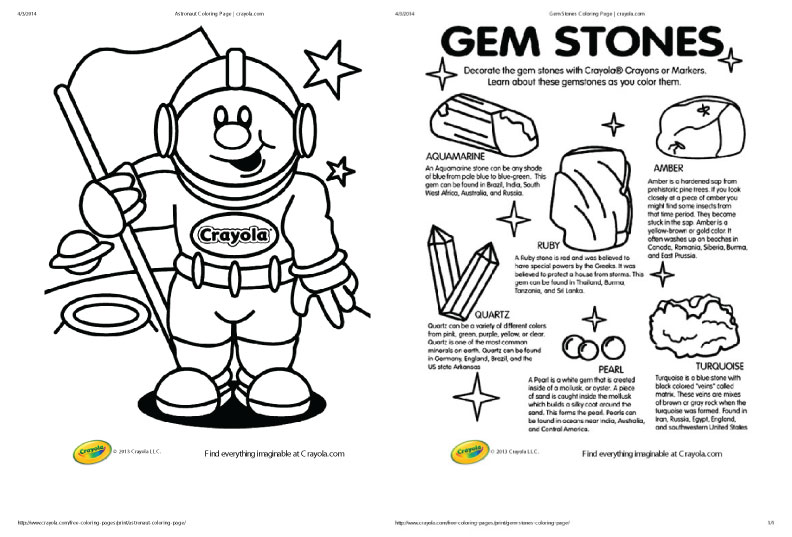 Cooper's Gem Mine - Activity Sheets - Category: Activity Sheets | 537x792